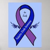 Pediatric Stroke Awareness Name Customizable Poster