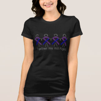 Pediatric Stroke Together We Will Fight T-shirts