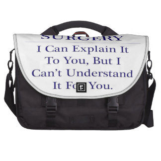 Pediatric Surgery .. Explain Not Understand Laptop Messenger Bag