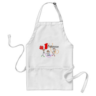 Pediatrician #1 Adorable Kids Design Gifts Adult Apron
