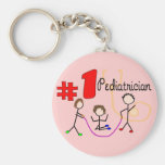 Pediatrician #1 Adorable Kids Design Gifts Keychain