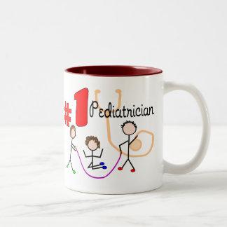 Pediatrician #1 Adorable Kids Design Gifts Two-Tone Coffee Mug