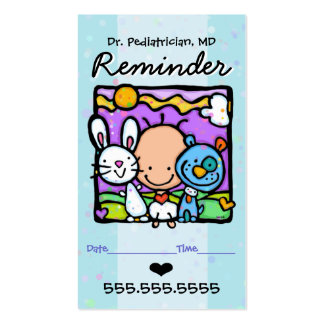 Pediatrician.Appointment reminder card.OBGYN.Baby Business Card Templates