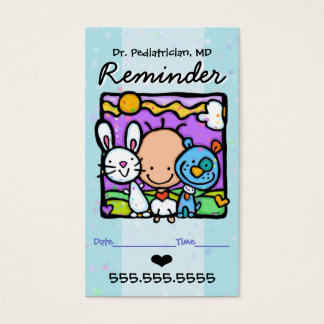 Pediatrician.Appointment reminder card.OBGYN.Baby Business Card