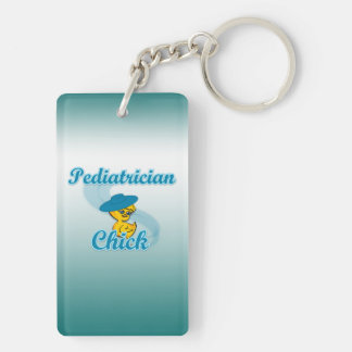 Pediatrician Chick #3 Keychain