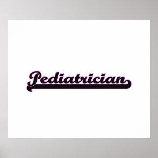 Pediatrician Classic Job Design Poster