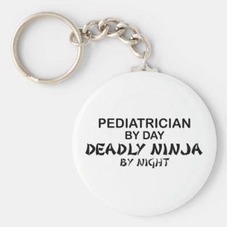 Pediatrician Deadly Ninja by Night Basic Round Button Keychain