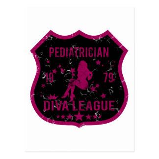 Pediatrician Diva League Postcard