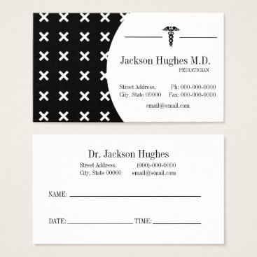 Professional Business Pediatrician/Doctor Business Appointment Card