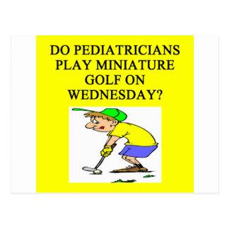 pediatrician doctor physician joke postcard