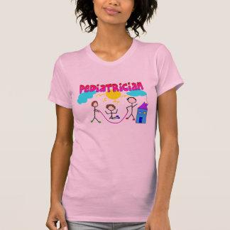 "Pediatrician Gifts ""# 1"" Stick People Design T-Shirt"
