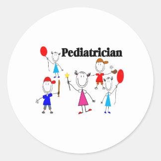 Pediatrician Gifts Kids Stickpeople Designs Classic Round Sticker