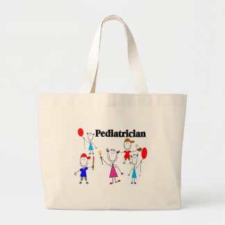 Pediatrician Gifts Kids Stickpeople Designs Large Tote Bag