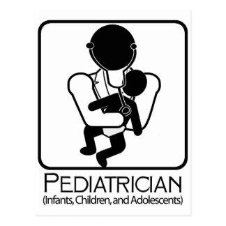 Pediatrician  LOGO - doctor to infants, children Postcard