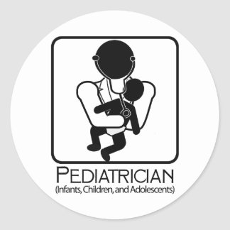 Pediatrician  LOGO - doctor to infants, children Sticker
