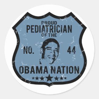 Pediatrician Obama Nation Classic Round Sticker