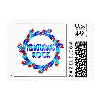 Pediatricians Rock Red Stars Postage Stamp