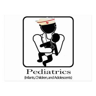 PEDIATRICS LOGO - INFANTS, CHILDREN, ADOLESCENTS POSTCARD