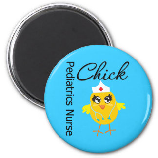 Pediatrics Nurse Chick v1 2 Inch Round Magnet