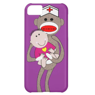 Pediatrics Nurse  Sock Monkey Cover For iPhone 5C