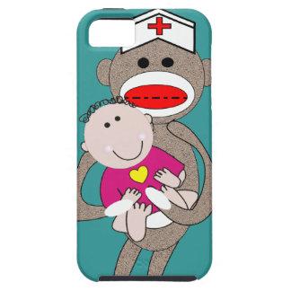 Pediatrics Nurse  Sock Monkey iPhone SE/5/5s Case