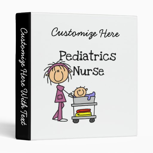 Pediatrics Nurse Tshirts and Gifts Binders