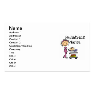 Pediatrics Nurse Tshirts and Gifts Double-Sided Standard Business Cards (Pack Of 100)