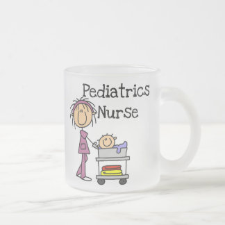 Pediatrics Nurse Tshirts and Gifts Frosted Glass Coffee Mug