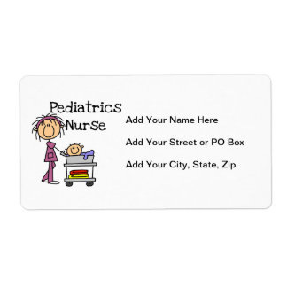 Pediatrics Nurse Tshirts and Gifts Label