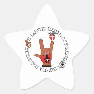 PEDIATRICS PEDIATRICIAN ASL LOVE LOGO STAR STICKER