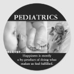 PEDIATRICS THOUGHT FOR THE DAY (HAPPINESS) CLASSIC ROUND STICKER