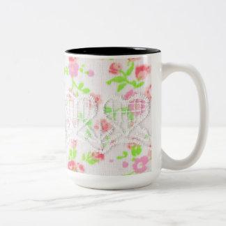 Pedicel (texture wind) Two-Tone coffee mug