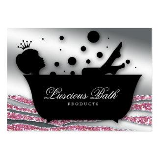 Pedicure de las burbujas del salón del clavo de la plantilla de tarjeta personal