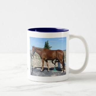 Pedicure del caballo de Tennessee que camina - Taza De Café De Dos Colores