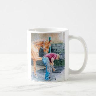Pedicure del caballo taza de café