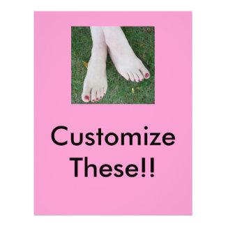 Pedicure Salon Flyers-Customize! Flyer