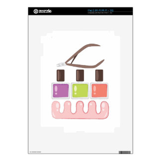 Pedicure Tools Decal For The iPad 2