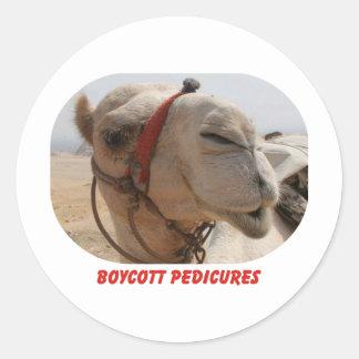 Pedicures del boicoteo pegatina redonda