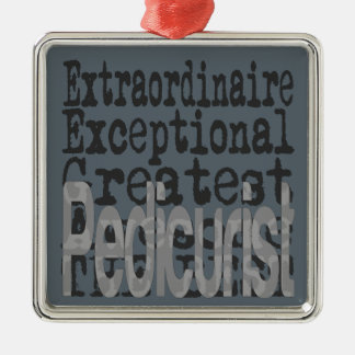 Pedicurist Extraordinaire Metal Ornament