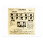 Pedido de DOJ Identifcation John Dillinger 1217 Tarjeta Postal