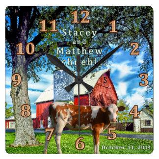 Pedido especial Guernesey y reloj de la vaca de la