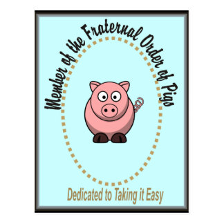 Pedido fraternal de cerdos tarjetas postales
