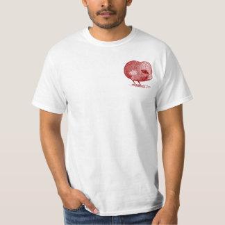 Pedido real del ~ de la camiseta del corazón rojo playera