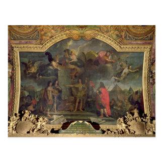 Pedidos de rey Louis XIV a atacar simultáneamente Postales
