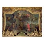 Pedidos de rey Louis XIV a atacar simultáneamente Tarjeta Postal