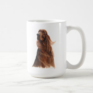 pedigree dog Itish Setter Dog Classic White Coffee Mug