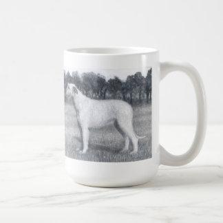 pedigree dog Russian wolfhound Classic White Coffee Mug
