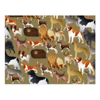 Pedigree Dog Wallpaper Postcard