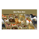Pedigree Dog Wallpaper, Your Name Here Double-Sided Standard Business Cards (Pack Of 100)