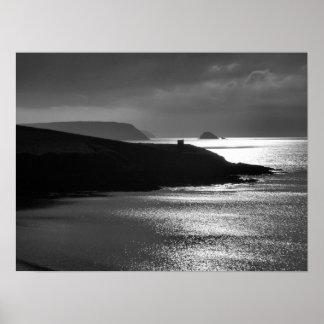 Pednvadan Point & Gull Rock Cornwall Poster